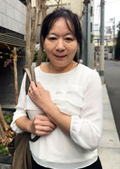 before応募してきた人妻 上戸あけみ 58歳after