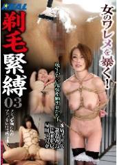 before剃毛緊縛03 恥ずかしい亀裂を晒す女たち!after