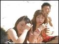 海水浴場で島SHIMANCHU人を巨乳ビキニ隊が逆ナンパ!!0