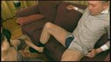 ピチピチの太腿が中年おやじのザーメン搾り取る年の差20歳の腿こき10