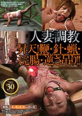 人妻調教 昇天!鞭・針・蝋・浣腸・逆さ吊り!!