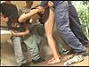 公園トイレで露出ビデオ撮影中にレ〇プ魔に襲われる17