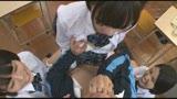 仲良し3人組女子○生が担任教師を骨抜きにする両乳首とチ○ポのローテーション3点責め9