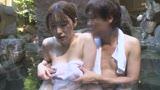 混浴温泉でタオル越しに触られ授乳期を終えたふわふわ乳首をカチカチにして感じる敏感妻6