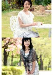 五十路で初撮り 美人でセレブな五十路奥様の激セックス! 花岡よし乃 55歳 藍川京子 55歳