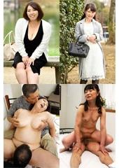 五十路AVデビュー 美尻とおっぱい自慢の奥様がカメラの前でイキまくり 中山文乃 52歳・森村真美 50歳