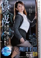 嵐の夜、会社に閉じ込められた女上司と二人きり 翔田千里