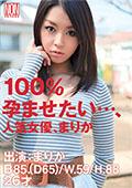 100%孕ませたい・・・、人気女優、まりか26歳